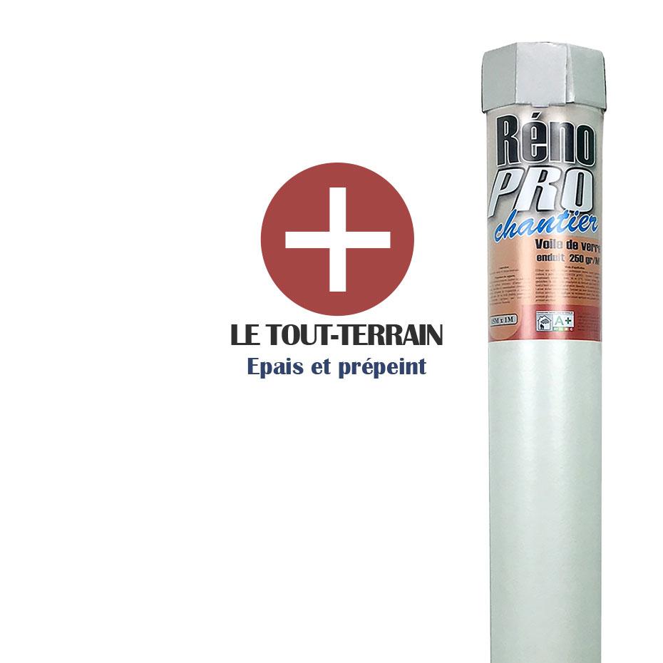 Toile À Enduire Plafond toile de verre lisse renopro chantier 250g/m² - 15m²